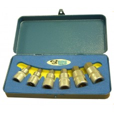 """1/2"""" SD A/F Inserted Hex Bit Socket Set 7/32""""-1/2"""" (In Box with Foam) - 6 Piece"""